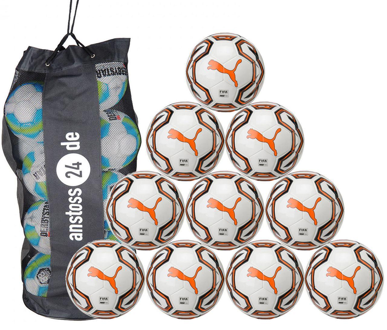 10 x PUMA Spielball Futsal 1 FIFA Quality Pro inkl. Ballsack