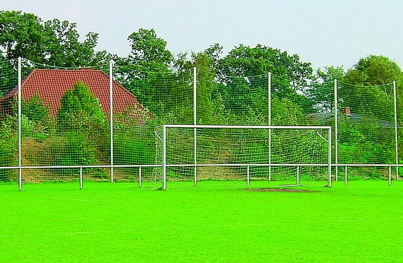 Pfosten für Ballfangnetz / Stopnetz | Höhe 5 m, Spezial-Alu-Profil 83 mm