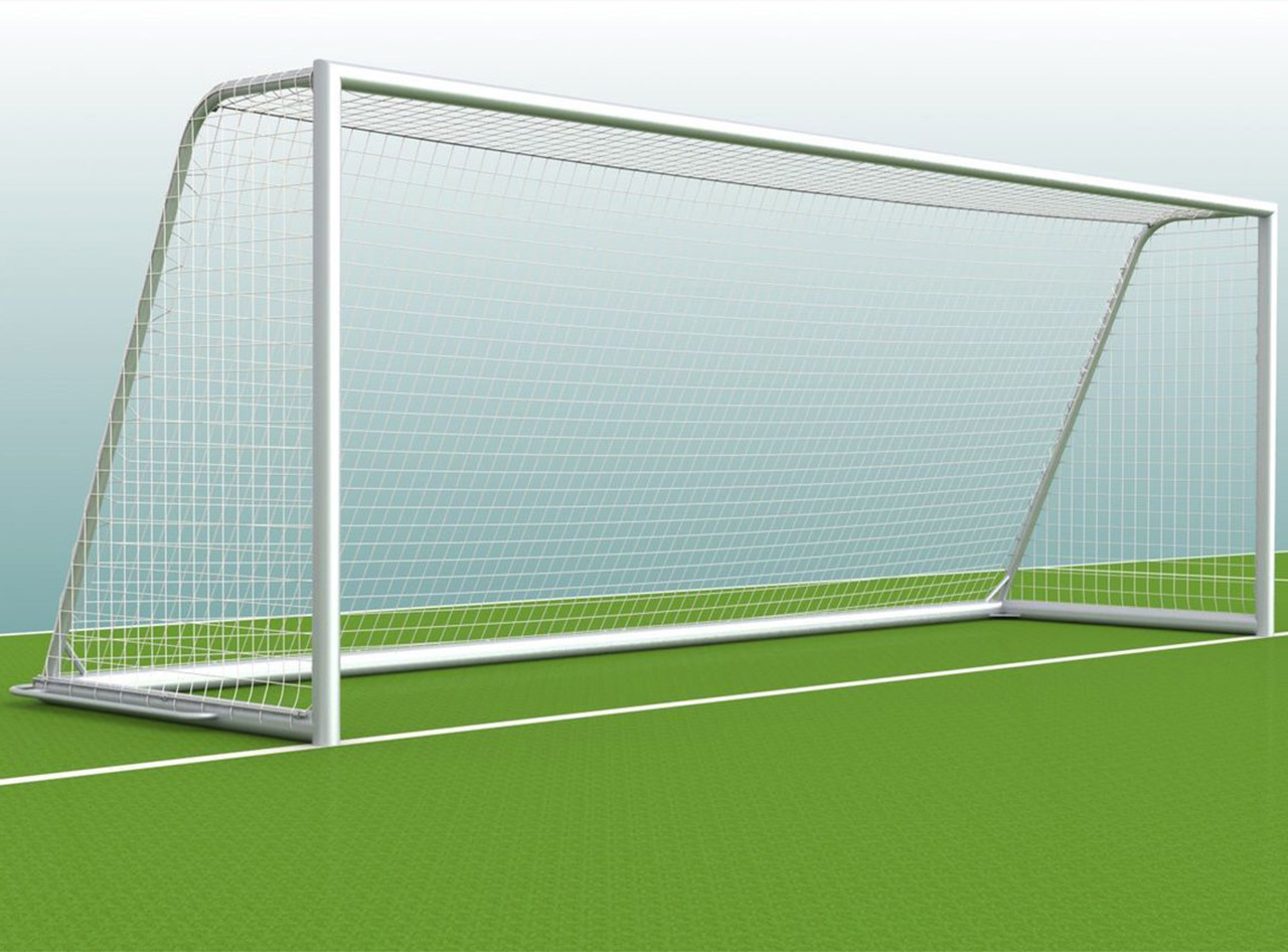 Soccer goal - mobile youth goal complete with oval profile - 5.00 x 2.00 m - fully welded, incl. goal net
