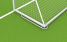 Fußballtor - mobiles Jugendtor komplett mit Ovalprofil - 5,00 x 2,00 m - vollverschweißt