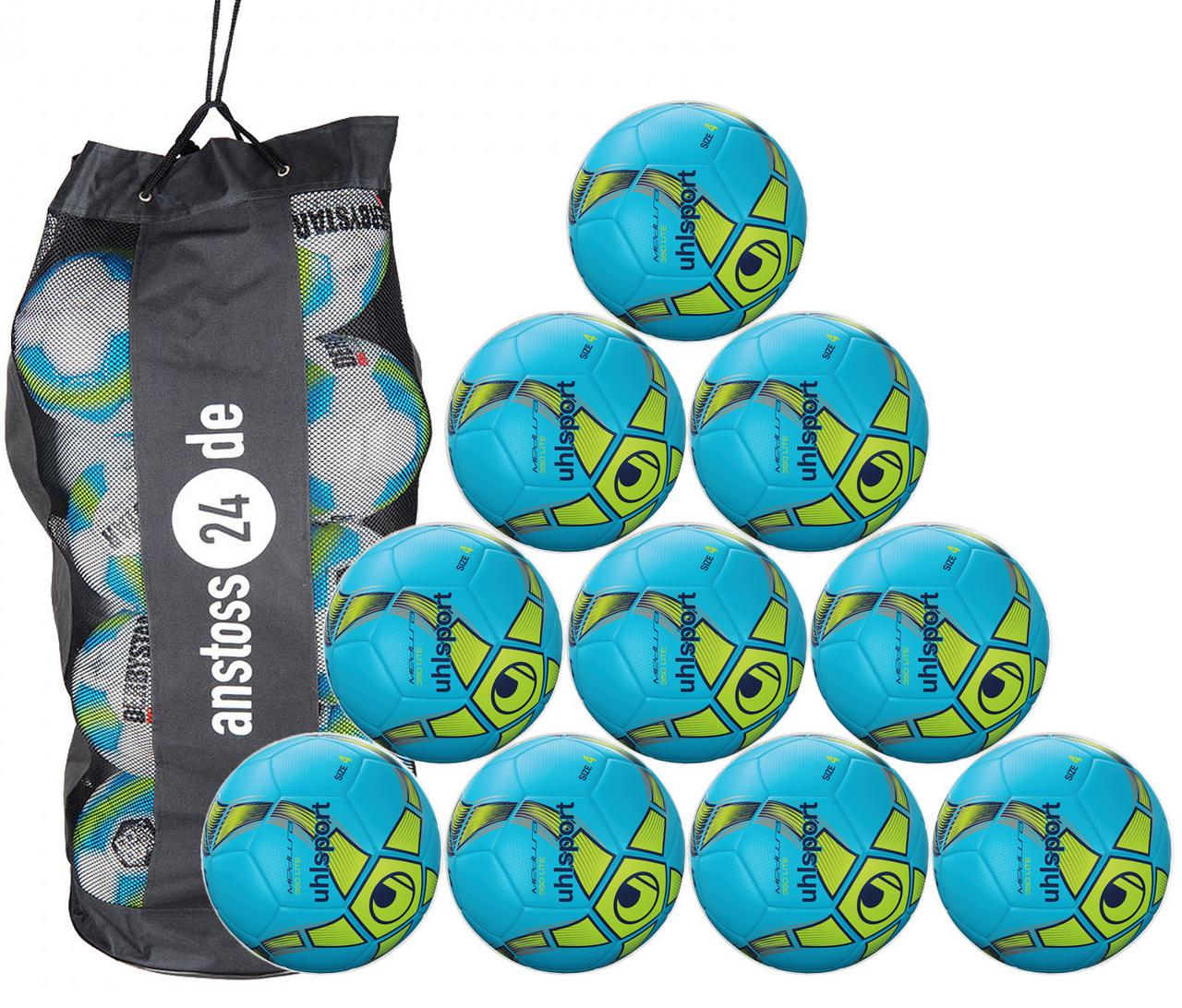 10 x Uhlsport Youth Ball Futsal - MEDUSA ANTEO 350 LITE incl. ball bag