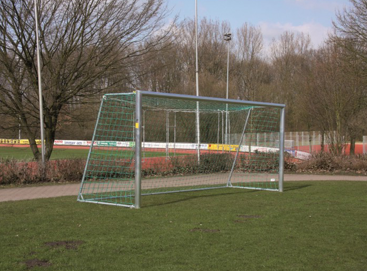 Soccer goal - football field goal - 3.00 x 2.00 m with steel display - incl. net