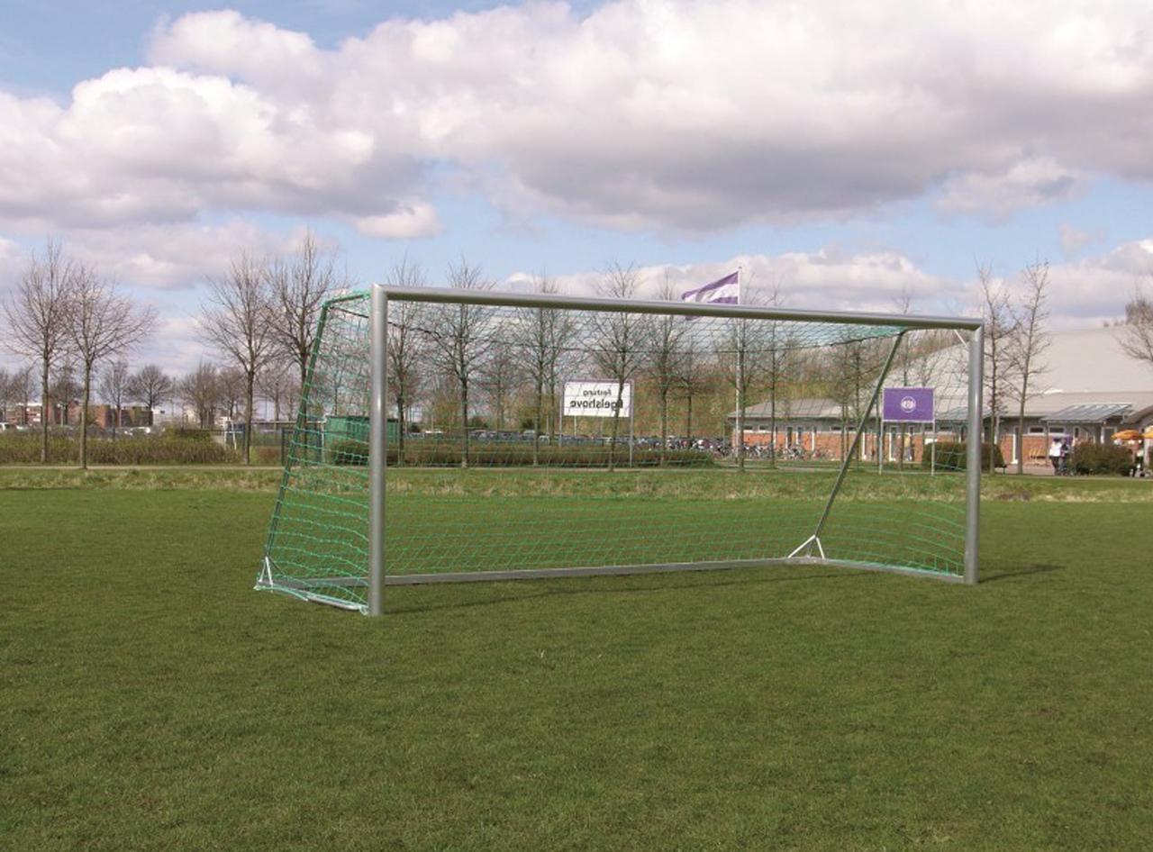 soccer goal - mobile youth goal - 5,00 x 2,00 m - full aluminium - incl. net