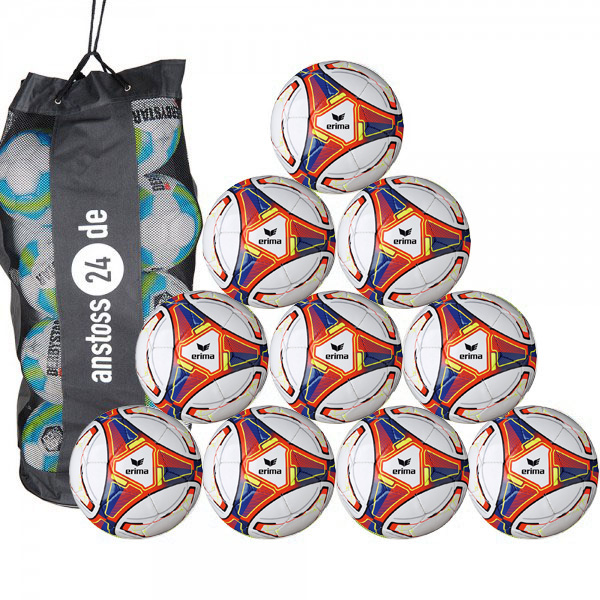 10 x Erima Trainingsball Allround Training inkl. Ballsack