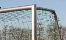 Mobile, fully welded training goal - 7.32 x 2.44 m - Incl: anti-tipper, wheels, carrying handles and goal net