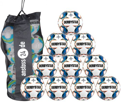 10 x DERBYSTAR training ball - STRATOS TT incl. ball bag