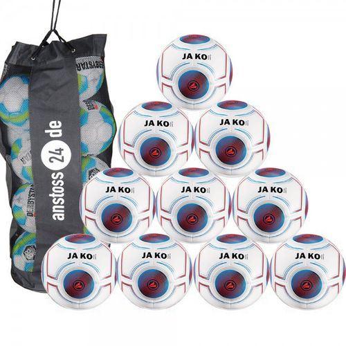 10 x JAKO Jugendball Futsal Light 3.0 inkl. Ballsack
