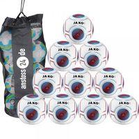 10 x JAKO Youth Ball Futsal Light 3.0 incl. ball bag