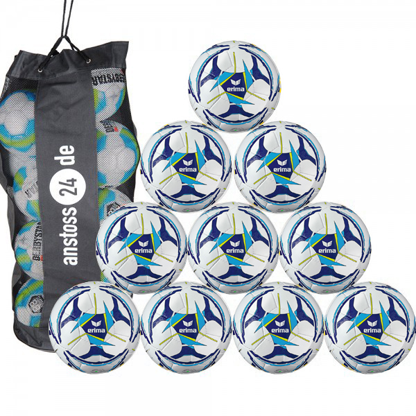 10 x erima Trainingsball Senzor Allround Training inkl. Ballsack