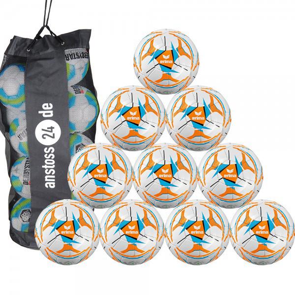 10 x erima Jugendball Senzor Allround Lite 290 inkl. Ballsack