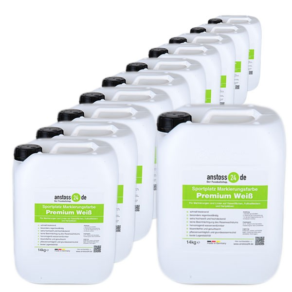 10 canisters sports field line marking paint Premium - a 14 kg