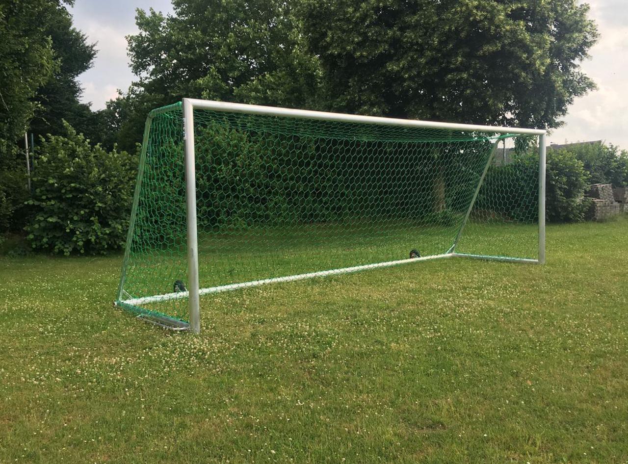 Transportables Fußballtor - Kippsicher - Vollverschweißt - 7,32 x 2,44 m