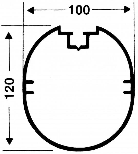 Transportables Fußballtor - Kompakt - 7,32 m x 2,44 m