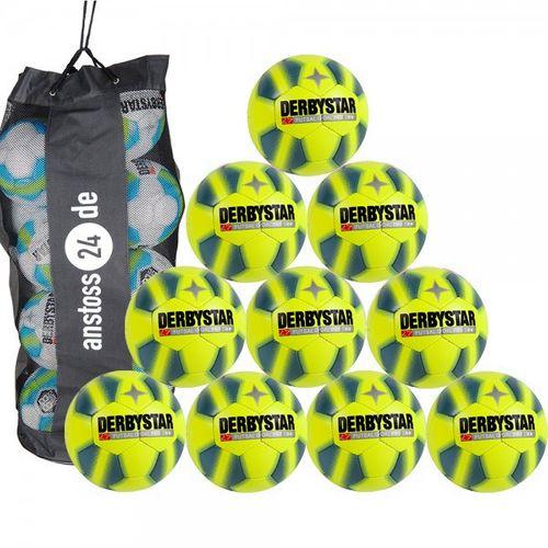 10 x DERBYSTAR Spielball Futsal - GOAL PRO inkl. Ballsack