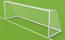 Fußballtor - mobiles Großfeldtor - 7,32 x 2,44 m - vollverschweißt, inkl. Tornetz