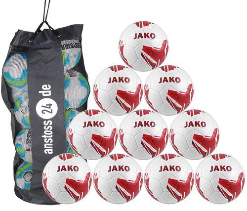 10 x JAKO Trainingsball Striker 2.0 inkl. Ballsack