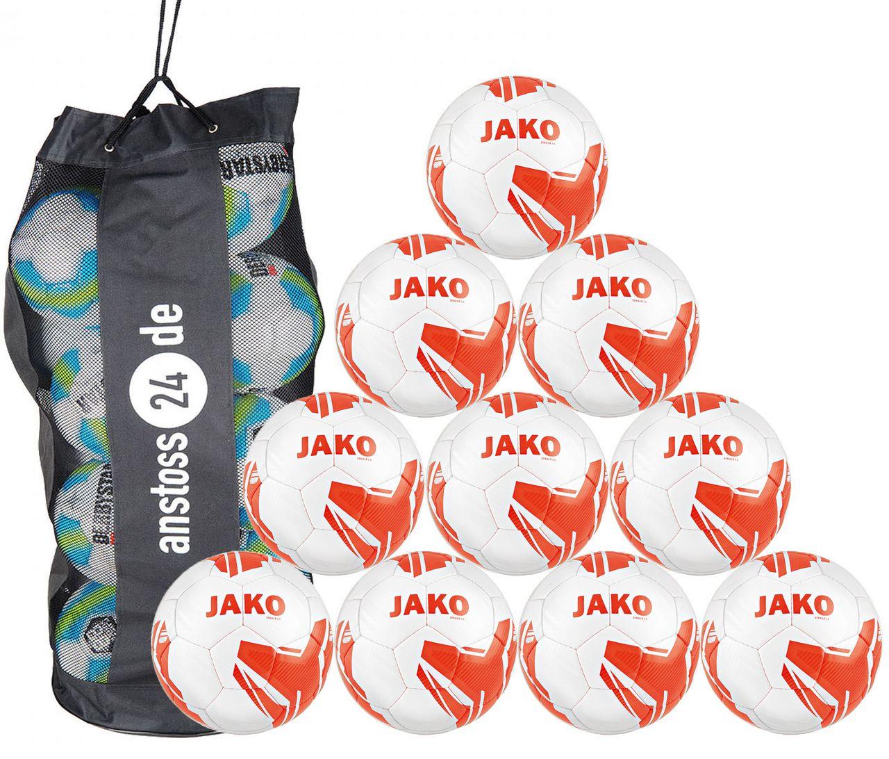 10 x JAKO Jugendball Striker 2.0 MS inkl. Ballsack