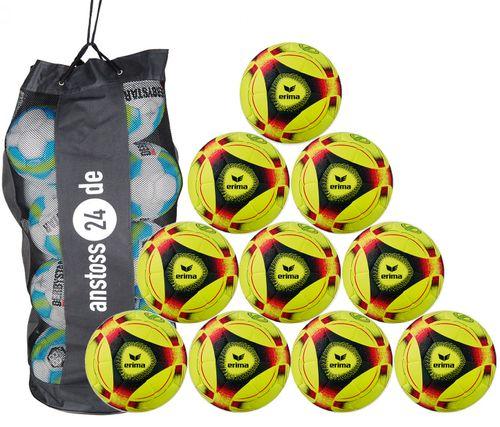 10 x erima indoor ball Hybrid Indoor 2019 incl. ball bag