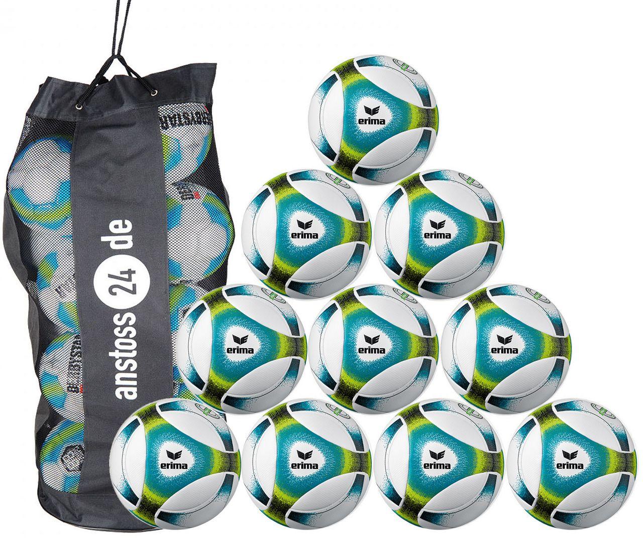 10 x erima training ball Futsal Hybrid SNR 2019 incl. ball bag