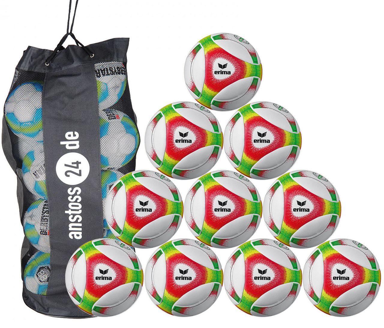 10 x erima Jugendball Futsal Hybrid JNR 350 (2019) inkl. Ballsack
