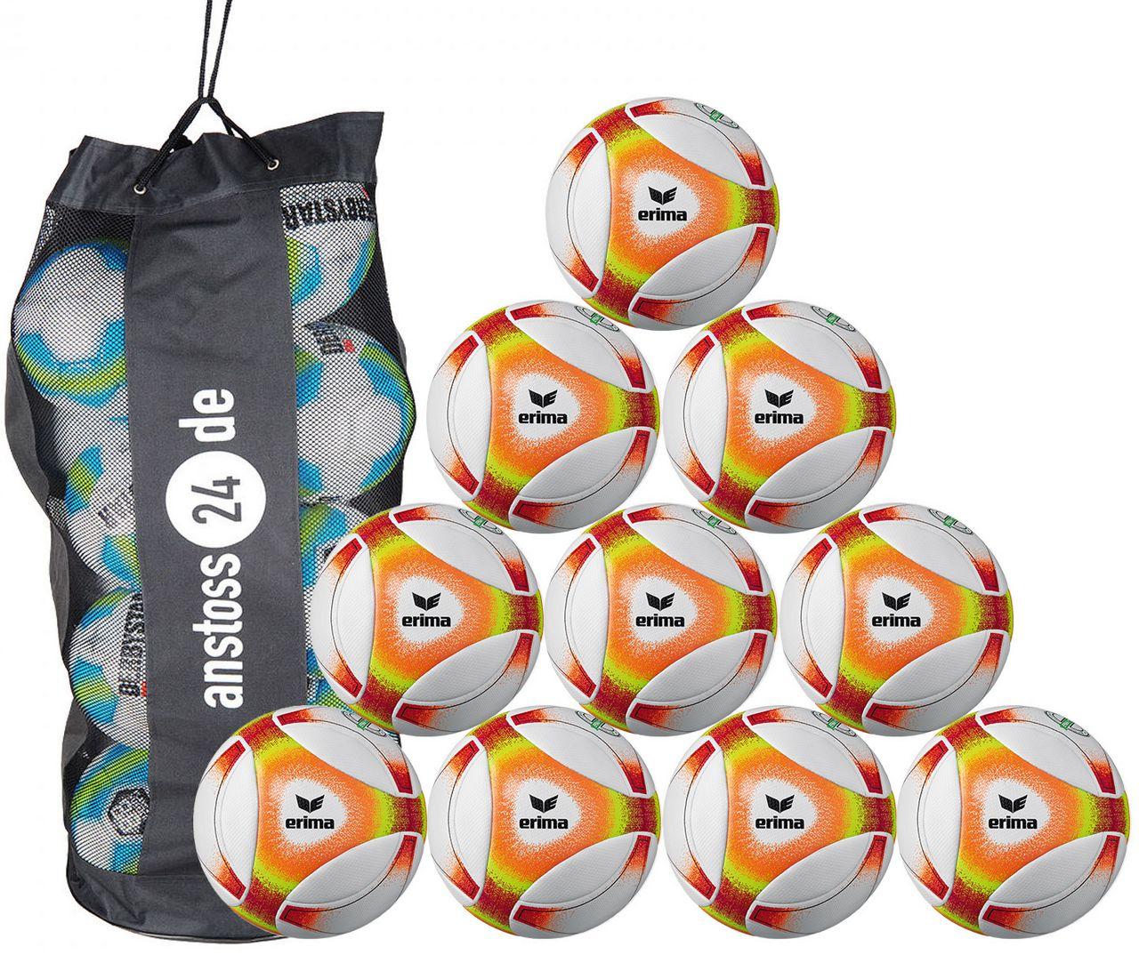 10 x erima Jugendball Futsal Hybrid JNR 310 (2019) inkl. Ballsack