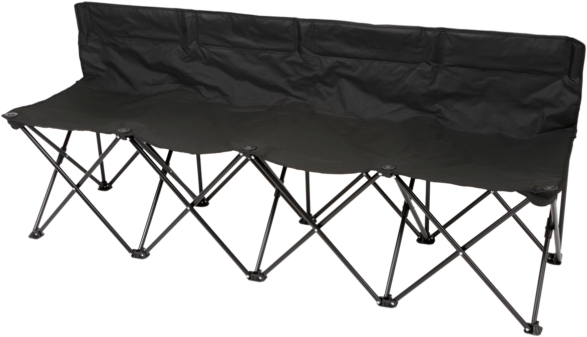 Mobile players bench 4-seater - absolutely weatherproof - incl. carrying bag