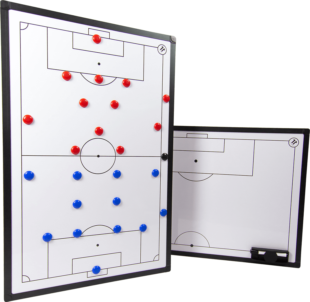 ELF Sports PREMIUM Magnet - Football Tactical Board incl. accessories - double-sided printing - 3 sizes selectable