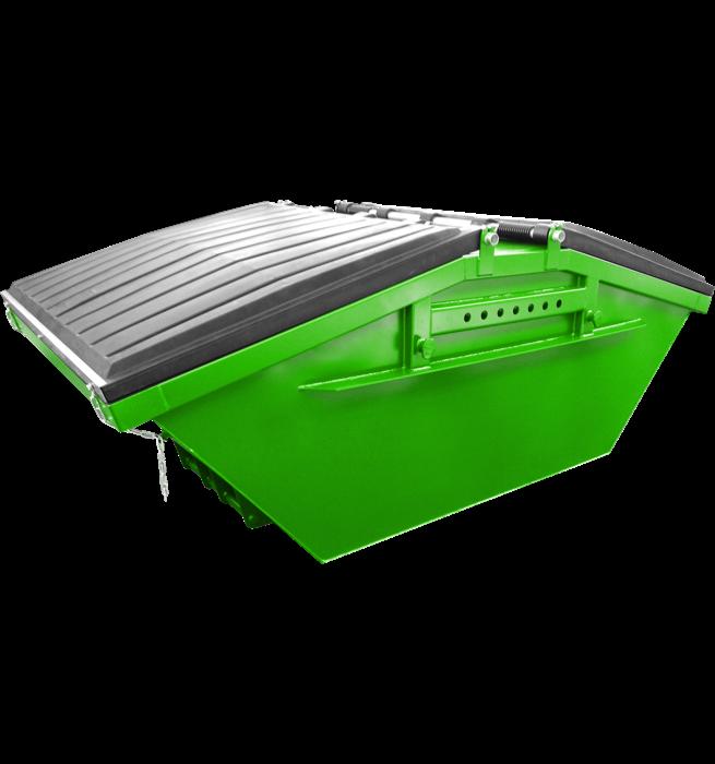 Absetzcontainer mit Kunststoffdeckel CONSD/KD (symmetrisch, neue DIN 30720-1, RAL-Farbton nach Wunsch)