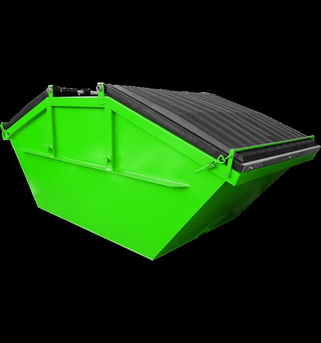 Absetzcontainer mit Kunststoffdeckel CONAUD/KD (offen, symmetrisch, alte DIN 30720, RAL-Farbton nach Wunsch)