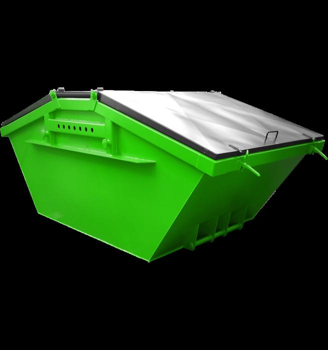 Absetzcontainer mit Stahldeckel CONSD (symmetrisch, neue DIN 30720-1, RAL-Farbton nach Wunsch)