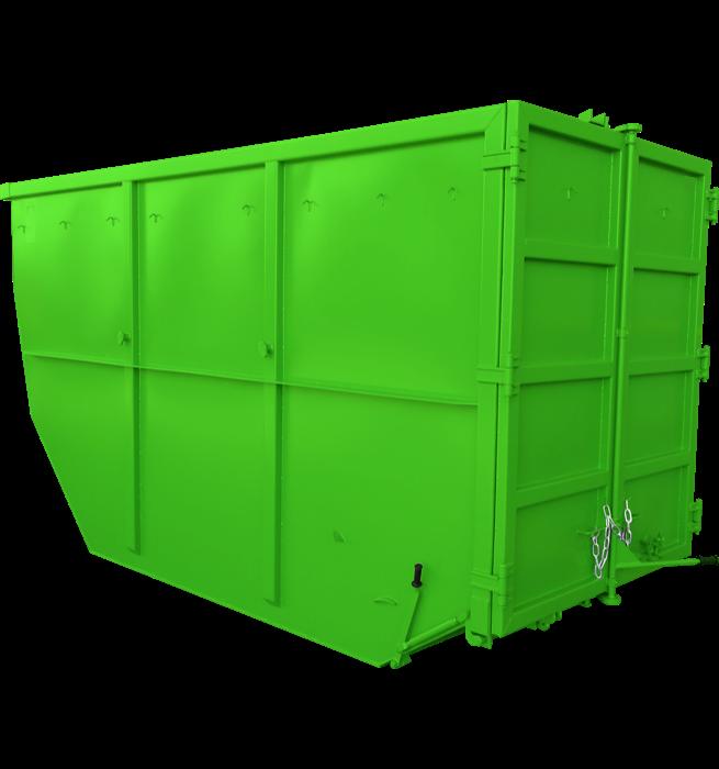 Absetzcontainer mit Doppelflügeltür CONAU/T (offen, asymmetrisch, alte DIN 30720, RAL-Farbton nach Wunsch)