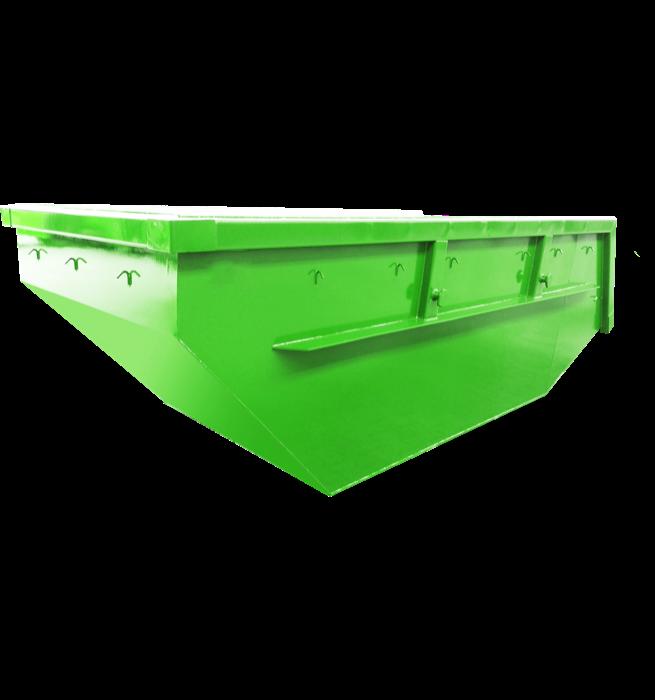 Absetzcontainer mit niedriger Schüttkante CONAUBN (offen, asymmetrisch,alte DIN 30720, RAL-Farbton nach Wunsch)