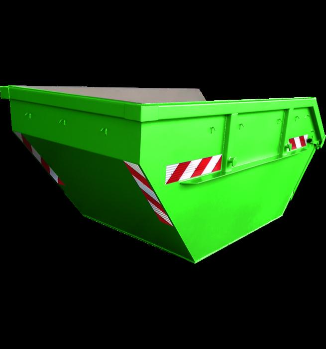 Absetzcontainer mit Klappe CONAK (offen, asymmetrisch, neue DIN/30720-1, RAL-Farbton nach Wunsch)