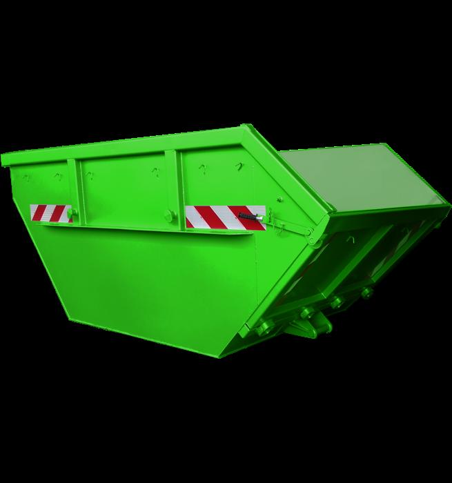 Absetzcontainer mit Klappe CONAUK (offen, asymmetrisch,alte DIN 30720, RAL-Farbton nach Wunsch)