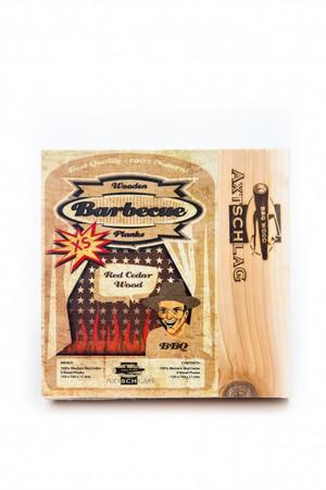 Axtschlag Western Red Cedar - Rotzeder XS Wood Plank Räucherbretter  (4er Pack)