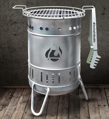 Feuerkorb 112er EDELSTAHL (50 Liter) - DIE Stahlbude – Bild 2