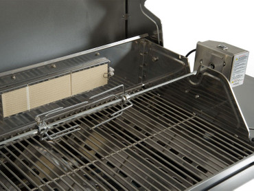 Coobinox Drehspieß (Rotisserie): 4 BE FIT Gasgrill (Luxus Linie), Royal Design, Double Power