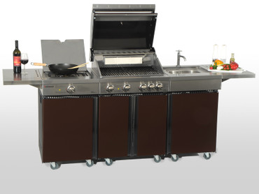 Coobinox Gasgrill 4 BE Royal Design: 4 Brenner + Backburner – Bild 10