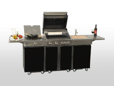 Coobinox Gasgrill 4 BE Royal Design: 4 Brenner + Backburner – Bild 9