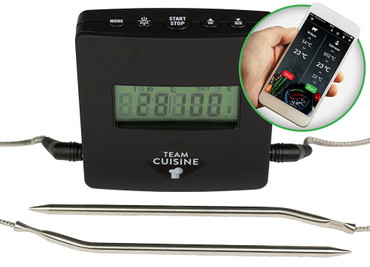Grillthermometer MEAT CONTROL TC-3951, Bluetooth mit Smartphone App, Team Cuisine