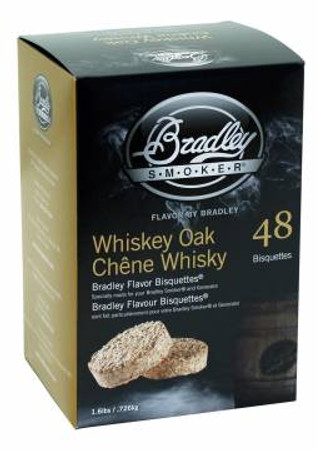 Bradley Smoker: Whiskey Oak Eiche Bisquetten - 48er Pack