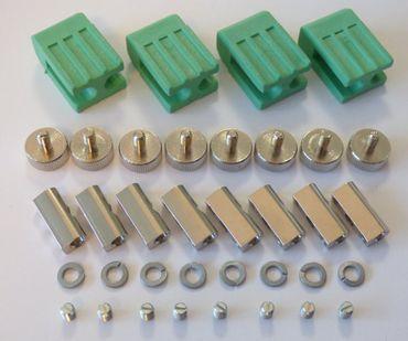 Lampen Halter grün für Gx-5,3 LED/Halogen 4-er Satz -#1323