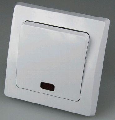 DELPHI Kontrollschalter mit Glimmlampe Rahmen weiß Elektro Dose Stecker Kupplung -#1350