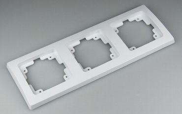 DELPHI 3-fach Rahmen weiss 220 x 80 mm Elektro Dose Stecker Kupplung -#1416