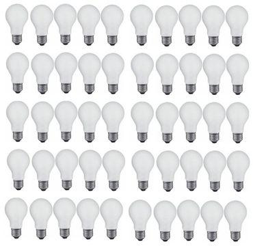 Glühlampe Glühbirne 40 Watt E-27 matt 50 Stück -#1824 – Bild 1