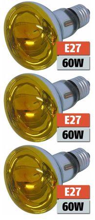 Leuchtmittel Reflektor R-80 gelb 230 Volt 60 Watt 3-er Pack -#1839 – Bild 1