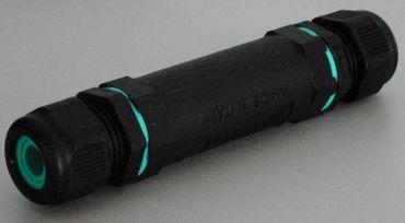 Kabelverbinder Wasserdicht 3-pol.IP 68Ø26,5 mm schwarz -#2287 – Bild 1