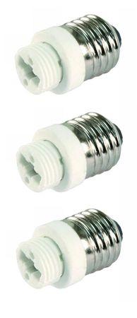 Adapter von E27 auf Sockel G9 Porzellan 12er Pack -#2336