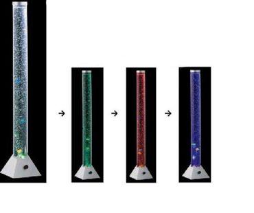 Wassersäule Sprudelsäule Ø 10 cm Höhe: 1.30  LED-Farbwechsel -#3253 – Bild 1