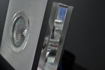 Kristall Einbaustrahler GU10 Halo/LED Quadrat ALU -#3254 – Bild 3